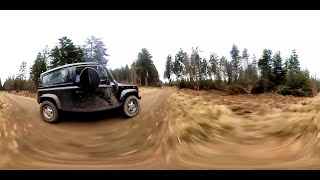 Land Rover off-road 360 overcapture with Defender 90