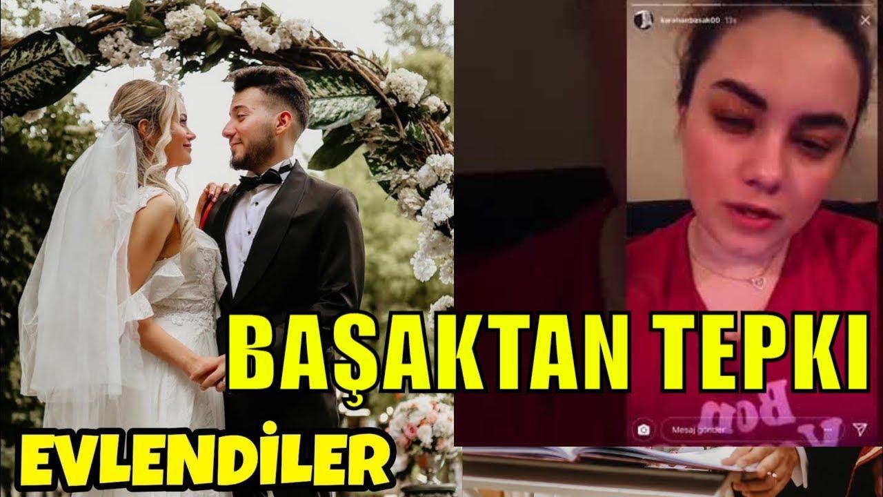 Enes Batur Evlendi Basak Karahan In Sert Tepkisi Youtube