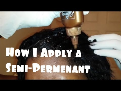 How I Apply My Temporary Semi Permanent Hair Color Rinse Youtube