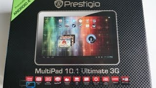 Распаковка Prestigio MultiPad 10.1 ULTIMATE 3G (unboxing)