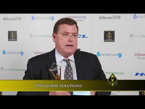 VXI Global Solutions wins a Stevie® Award in the 2018 Stevie Awards for Sales & Customer Service.