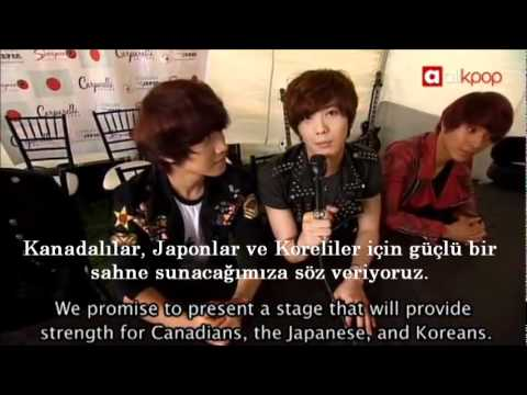 [Turkish Sub.] Interview with F.T. Island at Concert for Japan