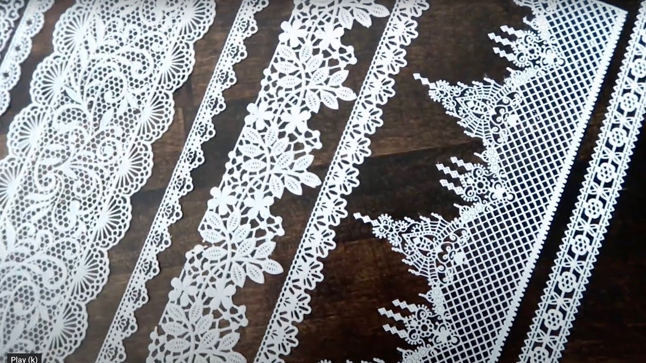 How to make edible lace for cakes and cookies.