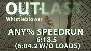 Outlast Whistleblower Any% Speedrun 6:18.5 (6:04.2 without loads) (PC) (World Record)