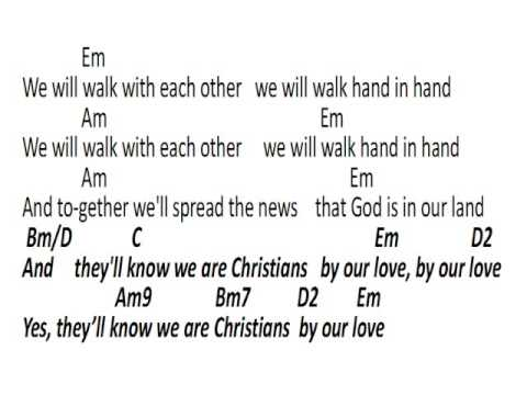 Video Chart - They Will Know We Are Christians By Our Love - YouTube
