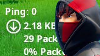 Fortnite with 0 PING is INSANE