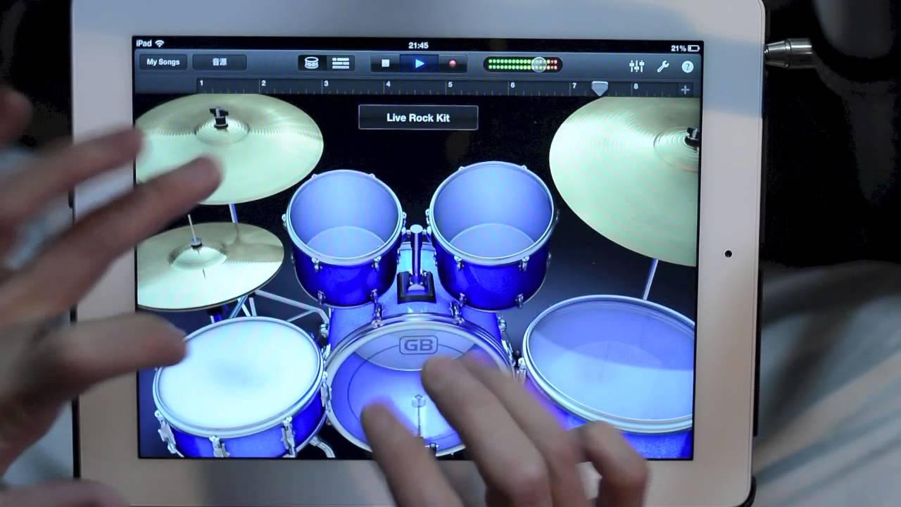 Un solo de batterie sur iPad
