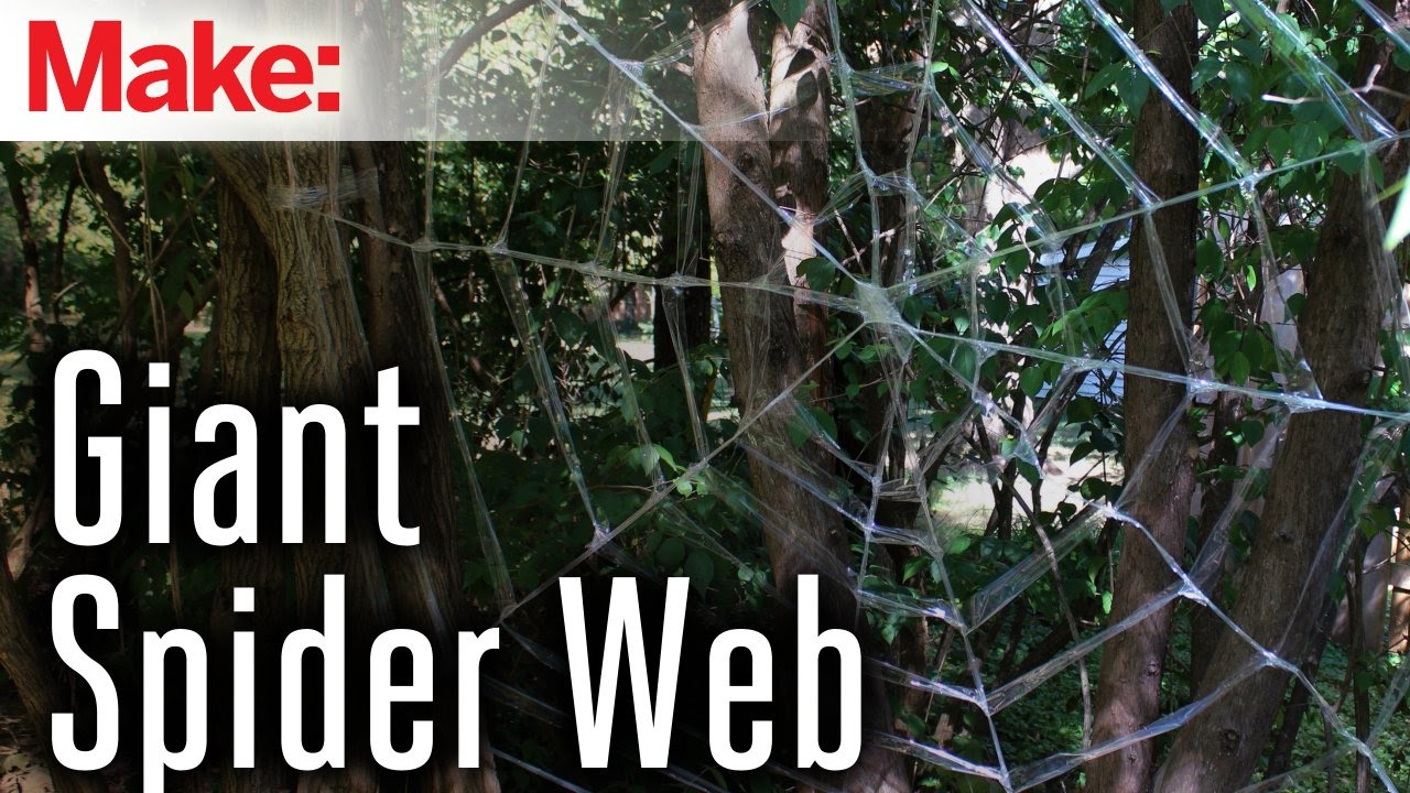 How To Make A Giant Spider Web Giant Spider Web Youtube