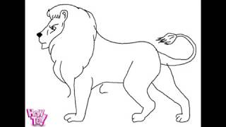 how to draw lion SPECIAL EASY