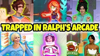 DISNEY PRINCESSES STUCK IN WRECK IT RALPH 2 ARCADE (Elsa, Vanellope, Tiana, Belle, Anna and Jasmine) Video