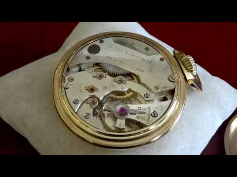 Vintage Crosby 10K Rolled Gold Plate 17-Jewels Swiss Size 16s Pocket Watch
