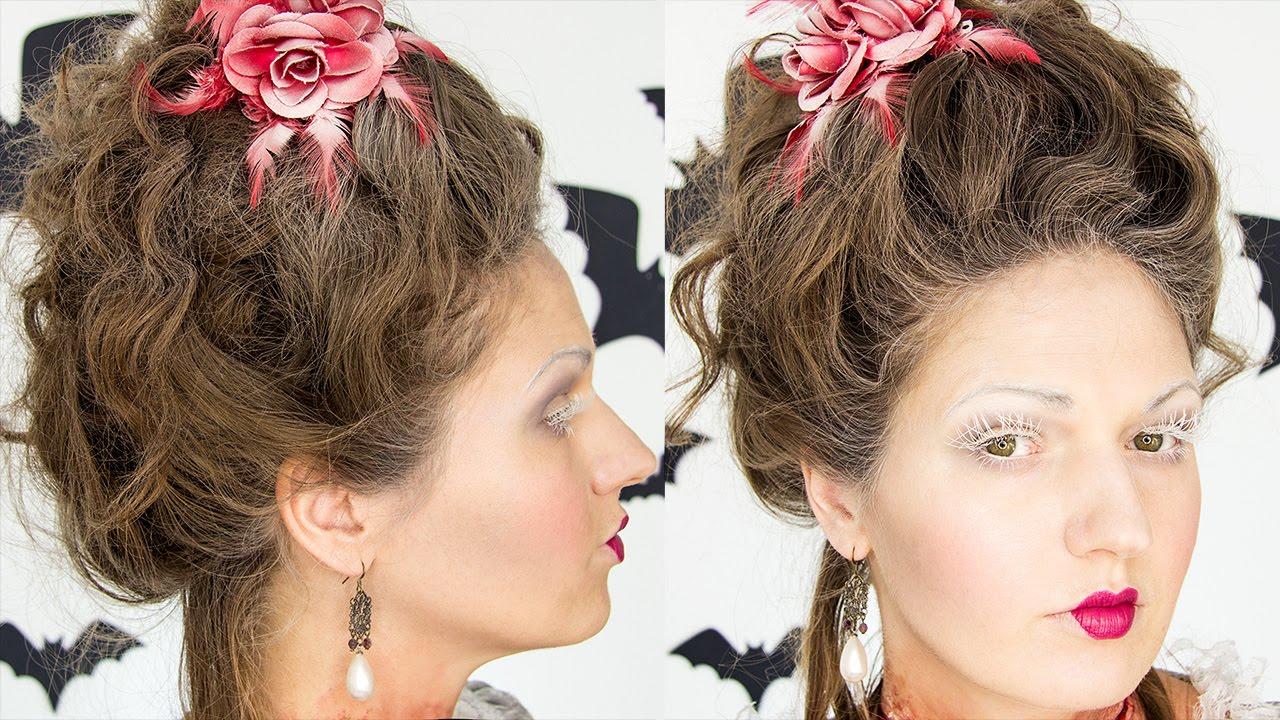 marie antoinette 18th century hair tutorial