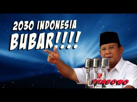 MENGERIKAN....PRABOWO PERINGATKAN...INDONESIA HANCUR BILA TIDAK GANTI PRESIDEN