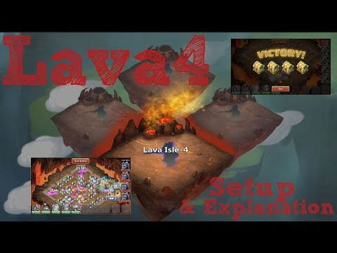 Castle Clash | Lava 4 | Setup & Explanation