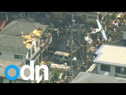 Small plane crashes into houses in Tokyo suburb