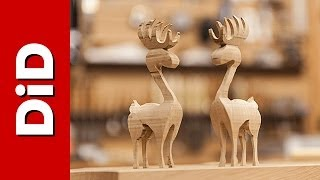199. Świąteczne drewniane reniferki