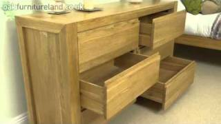 Pablo Solid Oak 6 Drawer Chest From Oak Furniture Land