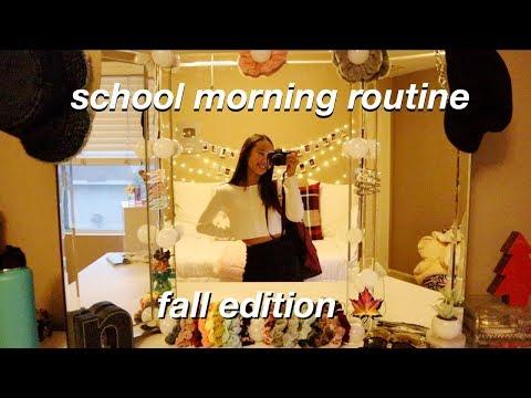 school morning routine 🍁 fall edition   Nicole Laeno