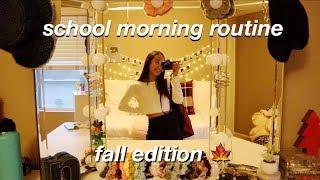 school morning routine 🍁 fall edition | Nicole Laeno