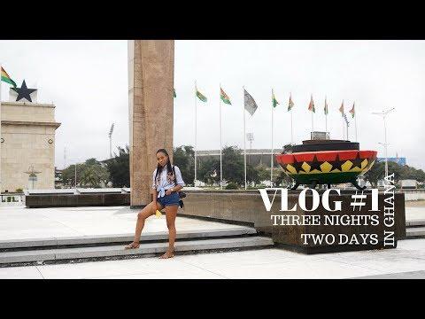 VLOG #1 | FIRST VISIT TO GHANA, GHANA JOLLOF VS NIGERIAN JOLLOF,  BANKU,SHITO | STEPHANIE ANI