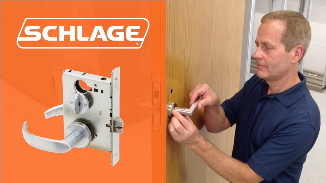 How to install schlage l9050 mortise lock youtube for Schlage mortise lock template