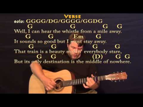Long Black Train (Josh Turner) Fingerstyle Guitar Cover Lesson with Chords / Lyrics