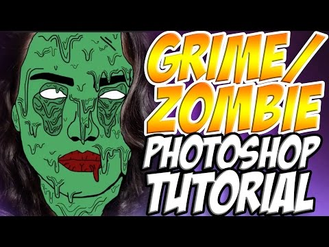 Tumblr Inspired Grime Edit / Zombie Edit - Photoshop Tutorial / Photoshop Tutorials Free / How To