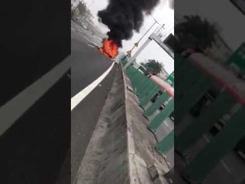 Model X accident in Guangzhou