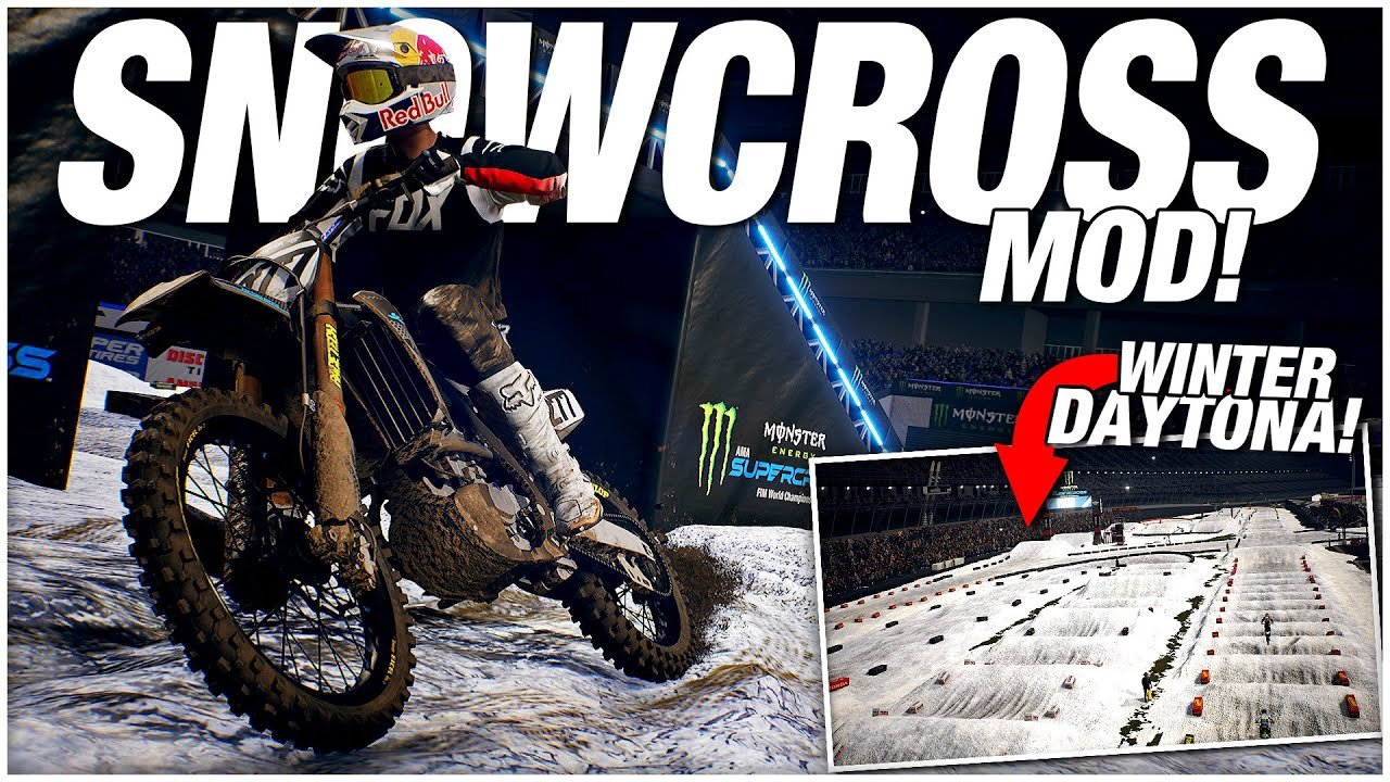 The SNOW TRACK MODS for Supercross! (Monster Energy Supercross: The Official Videogame 3)