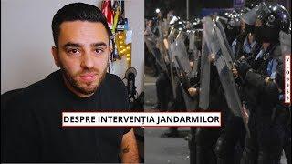 DESPRE INTERVENȚIA JANDARMILOR LA PROTEST
