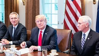 NATO Secretary General with US President Donald Trump, Cabinet Room, White House, 17 MAY 2018