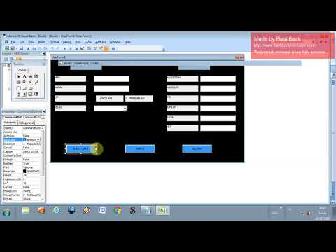 Cara Membuat Form Visual Basic Di Excel