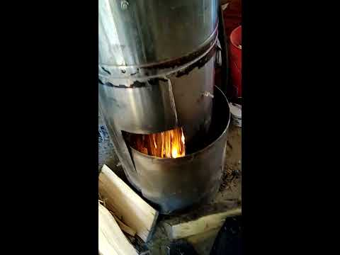 Live lighting smokeless Hemp fuel Rocket gasification Off-grid sciences