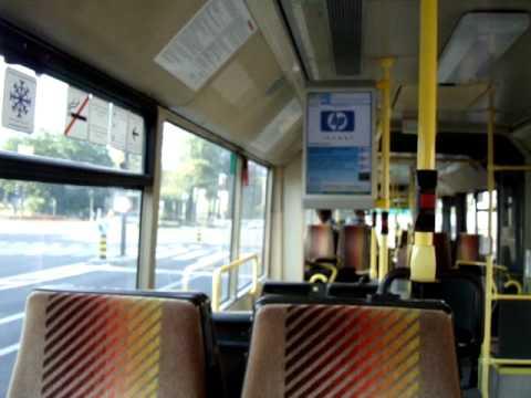 Ljubljana, Slovenia from a trolleybus