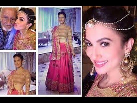 Nigaar Khans Wedding Look Out Inside Pictures Of Gauahar Khan Enjoying Sisters Dubai Wedding