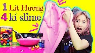 Slime Khổng Lồ Bằng 1 Lít Hương Kẹo Bubble Gum - Slime Quá Lố