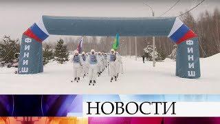 Российские десантники завершили лыжный переход, посвященный вековому юбилею Красной Армии.