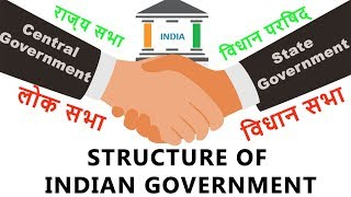 Structure Of Indian Government   Central And State   How Indian Government Works   Hindi