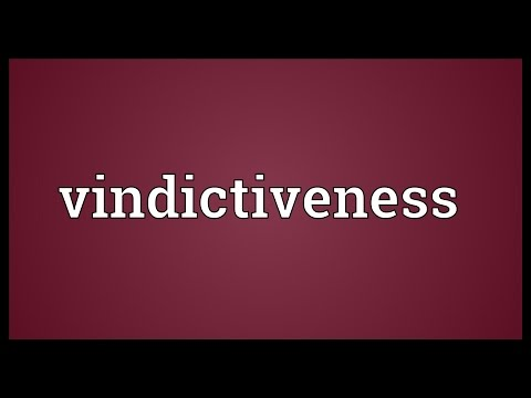 Header of vindictiveness