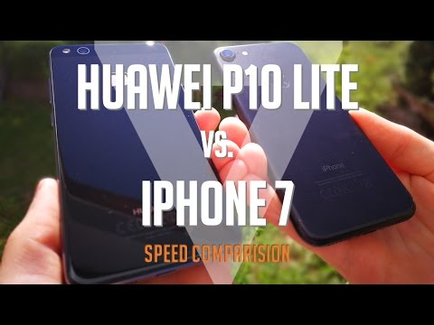 Huawei P10 Lite Vs. Iphone 7 Speed Comparision - SkyNetGameTV