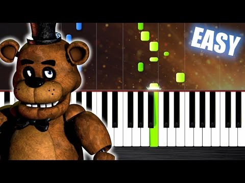 Five Nights at Freddys Song  EASY Piano Tutorial  PlutaX  Synthesia