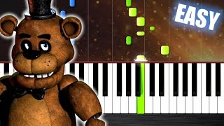 Five Nights at Freddy s Song EASY Piano Tutorial by PlutaX Synthesia