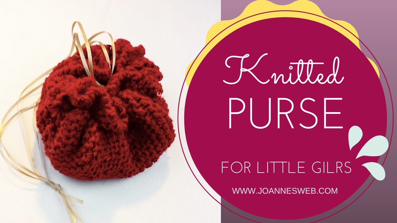 Knitted Purse for Girls - YouTube