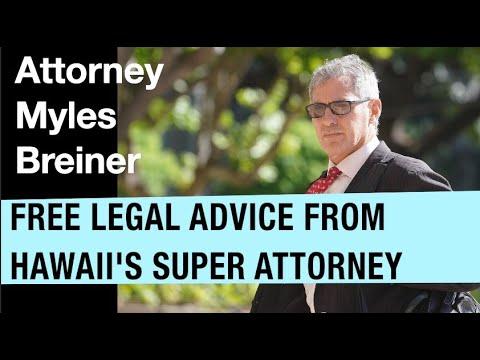 Free legal advice - gotbailhi.com's Nick interviews attorney Myles Breiner - Oahu, HI