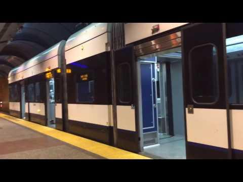 NJ Transit Hudson Bergen Light Rail train kinkisharyo 2-car @Bergenline AVE