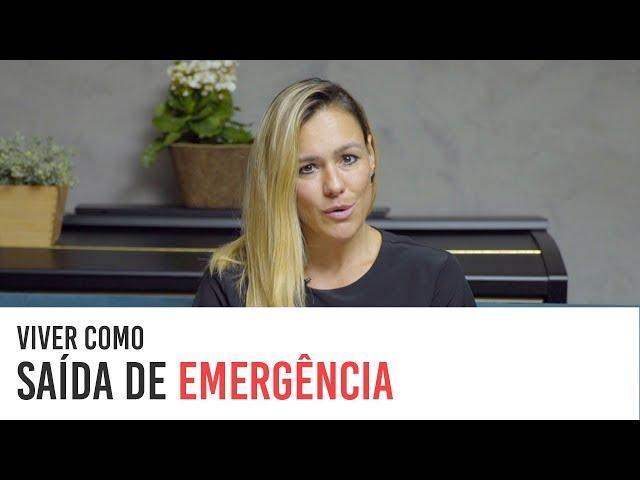 VIVER BUSCANDO A SAÍDA DE EMERGÊNCIA por Marcela Prado