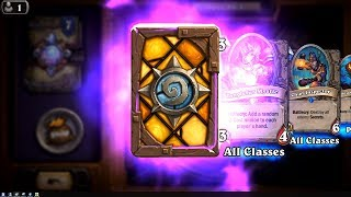 Nightmare Amalgam and Chief Inspector - The Witchwood Hearthstone epic and rare card pack opening