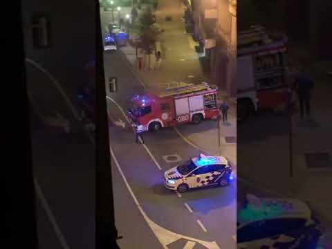 Incendio en un túnel de lavado en Ourense