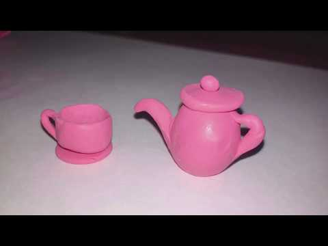 Как слепить чашку из пластилина