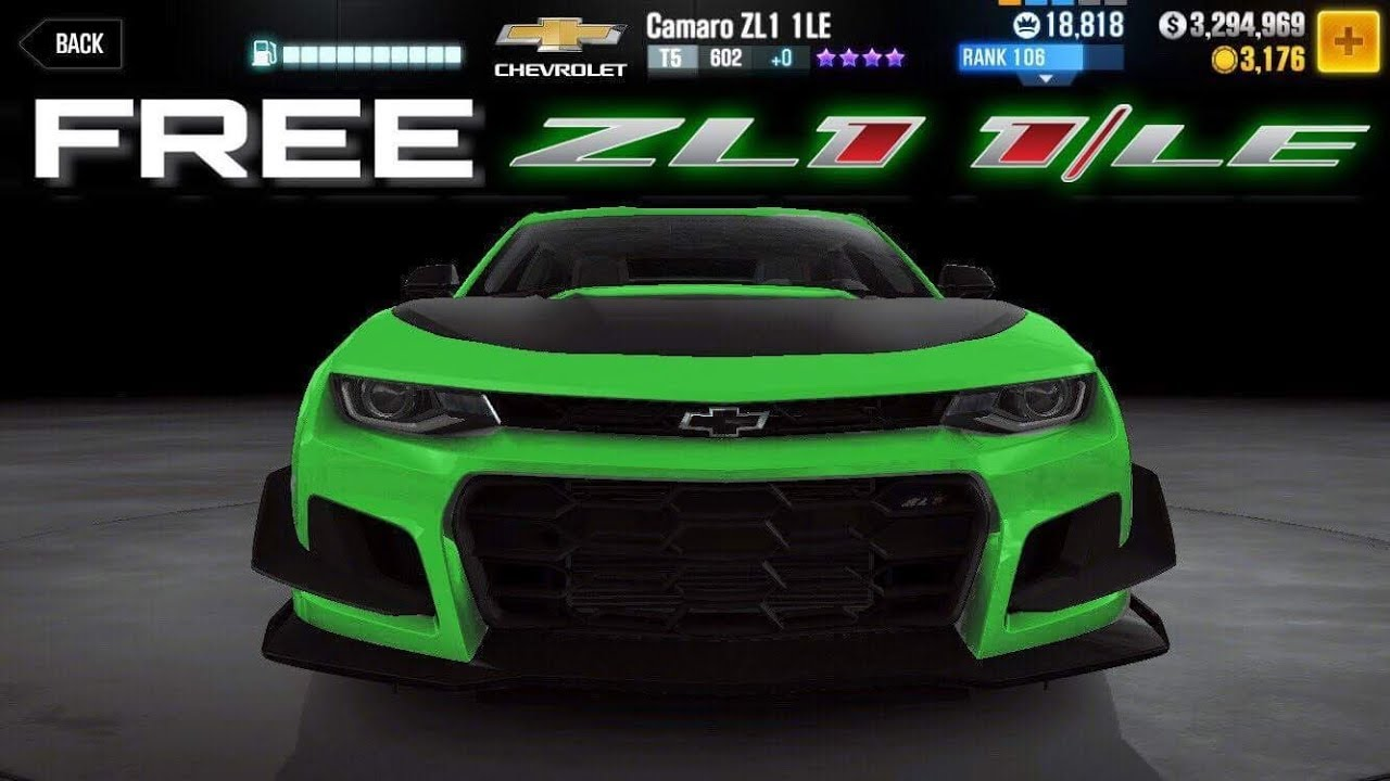 Free Car Win The Camaro Zl1 1le For Free Csr Racing 2